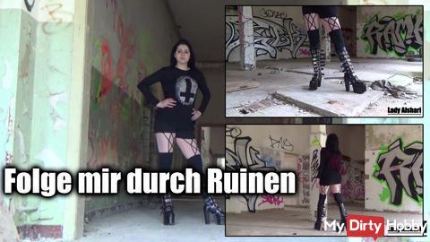 Follow me through ruins