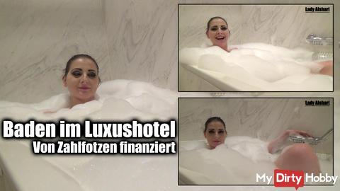 Bathing in luxury hotel