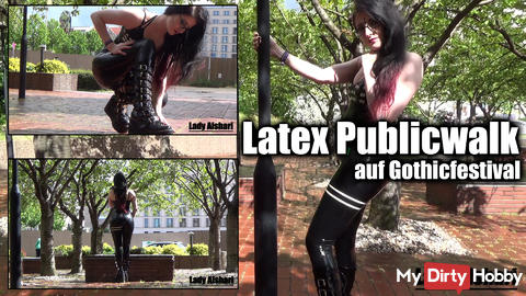 Latex Public Walk to Gothic Festival