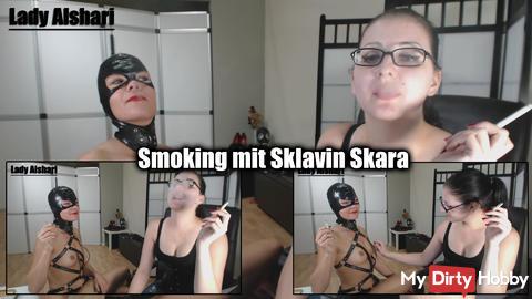 Smoking with slave Skara