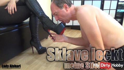 Slave licks my boots