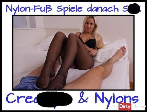 Nylon fi** + Nylon foot**b + cream**e