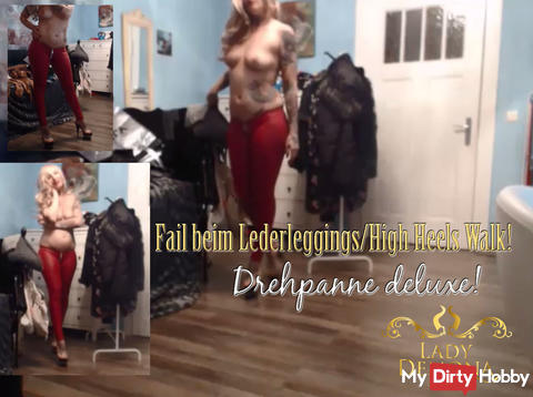 FAIL the above WITHOUT leather leggings Heels Walk   by Lady_Demona
