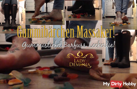 Gummy massacre! H * under Wellies - barefoot Leckerlie 4u   by Lady_Demona