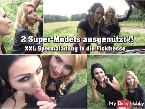 exploited 2 Super Models - sperm bomb in the mouth