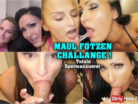 Mouth pussies Challange! sperm mess