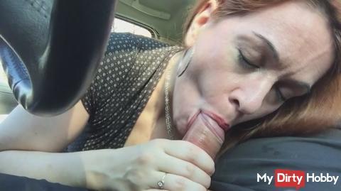 Parking blowjob