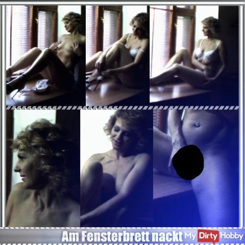 Am Fensterbrett nackt