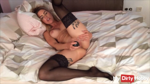 pampered solo with a big dildo