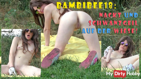 Teeny BambiBee18: Naked and cocky on the meadow!