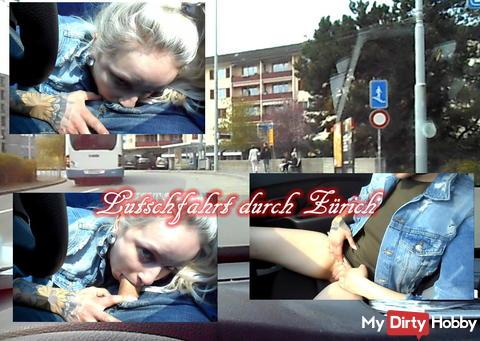 Lozenges tour of Zurich! When driving deep throat sucked!
