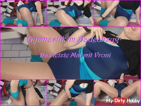 Gymnastics in swimsuit - the last time with Vroni