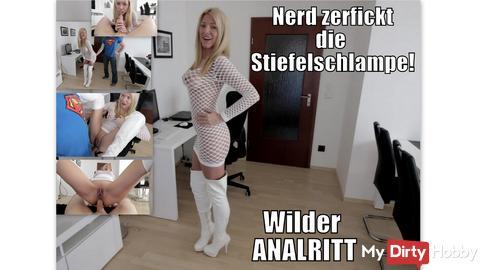 Oral | Vaginal | Anal | Dauergeile boots Bitch zerfickt!
