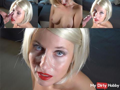 XXL sperm bomb - in the face !!!!!