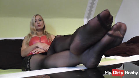 Barfuss in Nylons -POV