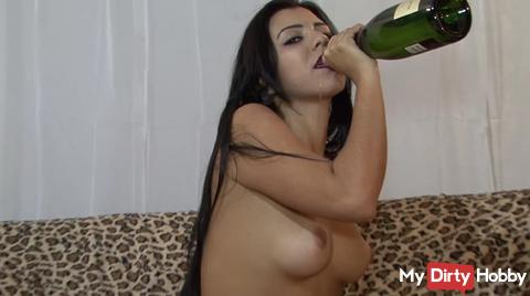 Champagne and masturbation