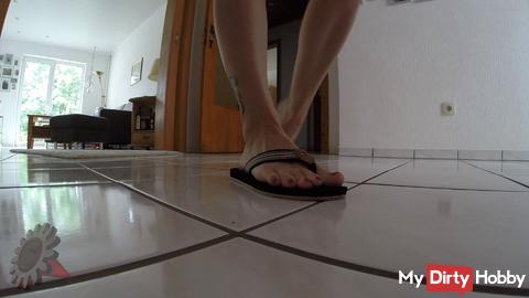 Walking in Flip Flops