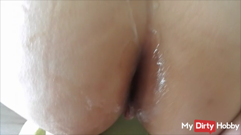 Cock pissed and fucked until the sow sprayed (POV)