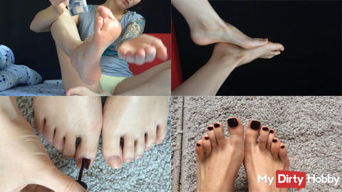 Feet care and pedicure