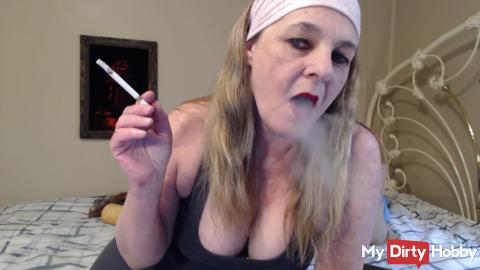 Dirty talking smoking JOI