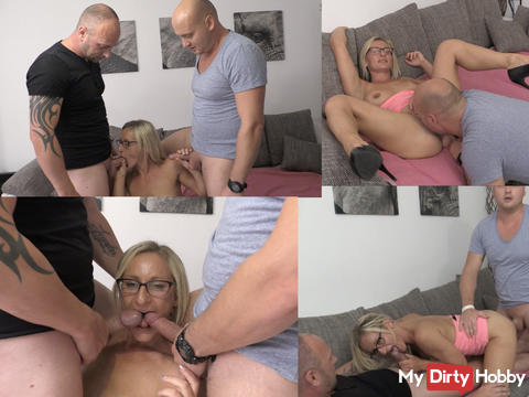 My first MMF threesome !! 1/2