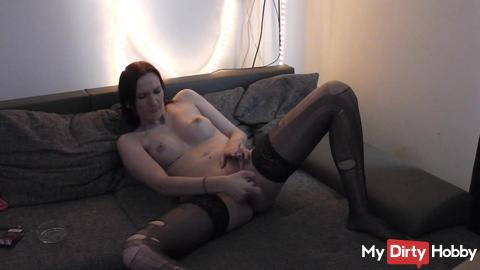 Smoking and dildo in my pussy
