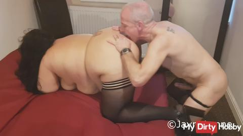 433 JayneLynne Caught the guy in her Panties and Stockings
