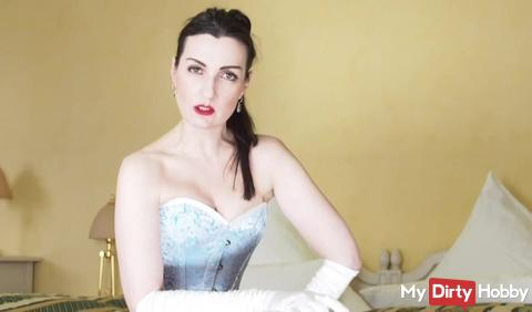 The corset goddess talks to you footslave