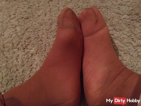 Feet in nylon Söckcken