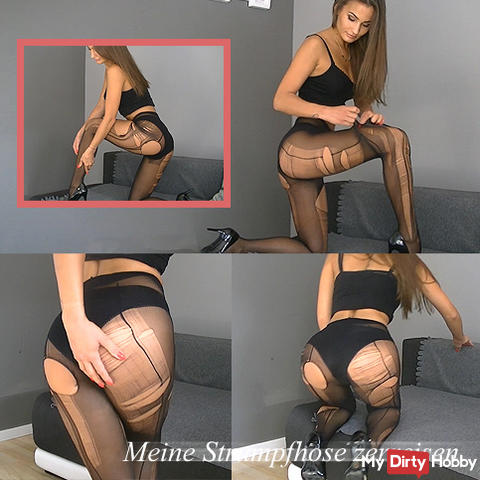 My pantyhose torn