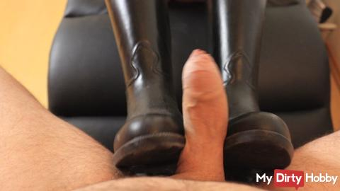 Jerk off on my riding boots