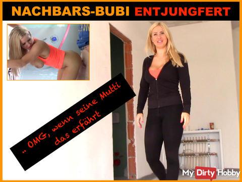 OMG! 18jährigen NACHBARS-BUBI ENTJUNGFERT !!!