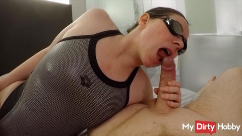 Silver Vintage Swimsuit bitch blow and fucked