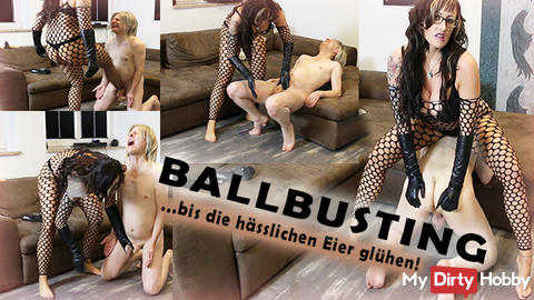 BallBusting to the ugly eggs glow!