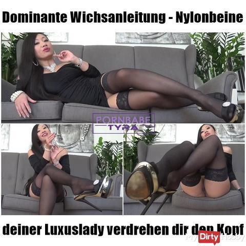 Dominical Wichsanleitung - Nylonbeine of your Luxuslady twist your head