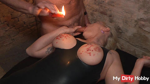 Candle wax on tits and ass