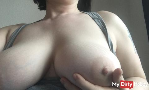 Small Breasts massage in the morning :-)