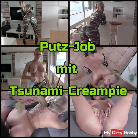 Tsunami creampie - Concealed job with FUCK ASS posing