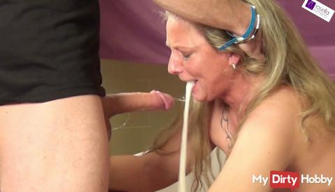 Mass BlowJob and swallowing event! 120 tails! Part 1! Extreme Gagging Deep Throat!