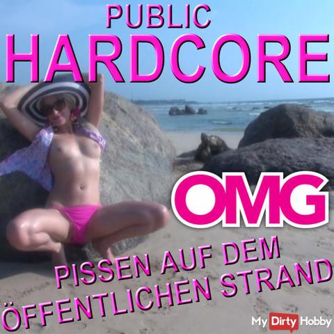PUBLIC HARDCORE - PISS ON PUBLIC BEACH