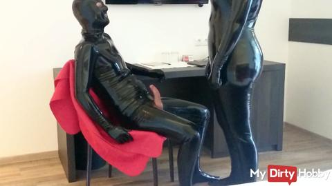 Riding on the chair
